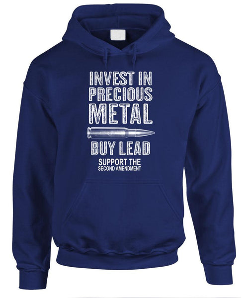 INVEST IN METAL BUY LEAD - Fleece Pullover Hoodie (fleece)