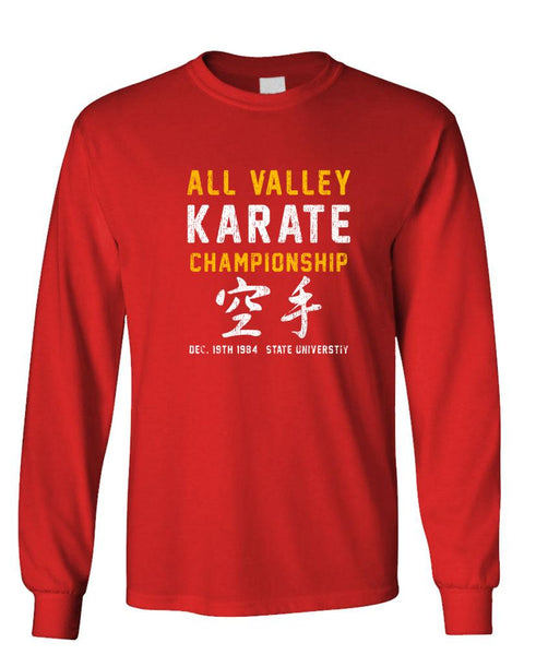 ALL VALLEY KARATE CHAMPIONSHIP - 80's - Long Sleeved Tee (lstee)