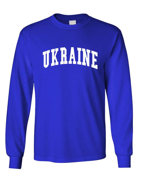 UKRAINE - Homeland Country Pride - Unisex Cotton Long Sleeved T-Shirt (lstee)