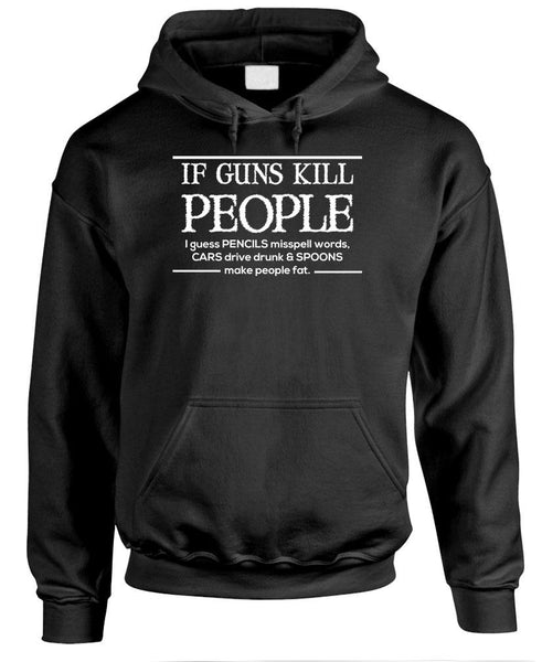 IF GUNS Kill People Then Cars Drive Drunk! - Fleece Pullover Hoodie (fleece)