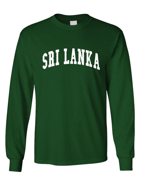 SRI LANKA - Homeland Country Pride - Unisex Cotton Long Sleeved T-Shirt (lstee)