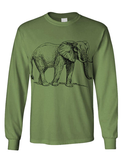 ELEPHANT pachyderm ivory endangered phunt - Unisex Cotton Long Sleeved T-Shirt (lstee)