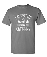 LIFE IS BETTER WITH A BEER - Unisex Cotton T-Shirt Tee Shirt (tee)