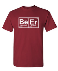 BEER periodic table chemistry element funny - Unisex Cotton T-Shirt Tee Shirt (tee)