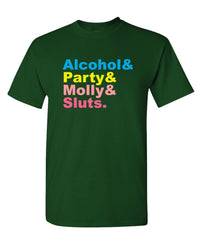 ALCOHOL PARTY MOLLY SLUTS - Unisex Cotton T-Shirt Tee Shirt (tee)