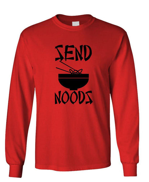 SEND NOODS - Unisex Cotton Long Sleeved T-Shirt (lstee)
