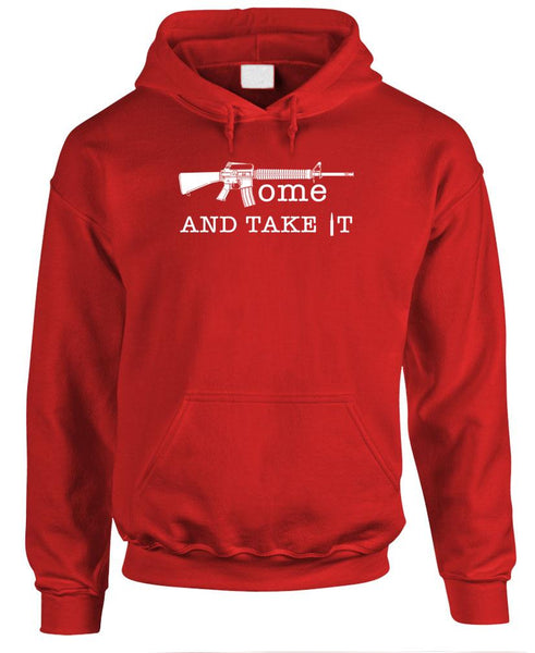 COME and TAKE IT - Fleece Pullover Hoodie (fleece)