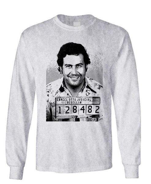 PABLO ESCOBAR - Unisex Cotton Long Sleeved T-Shirt (lstee)