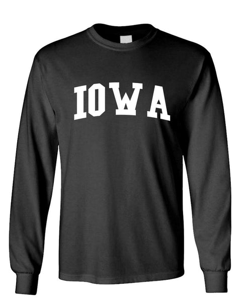 IOWA - united states usa patriot - Unisex Cotton Long Sleeved T-Shirt (lstee)