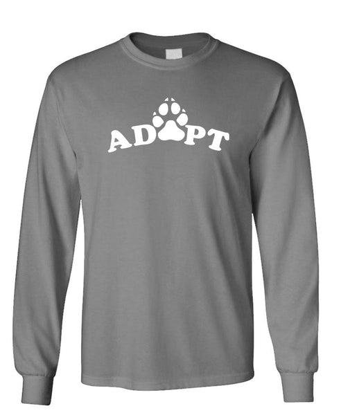 ADOPT PETS - Unisex Cotton Long Sleeved T-Shirt (lstee)