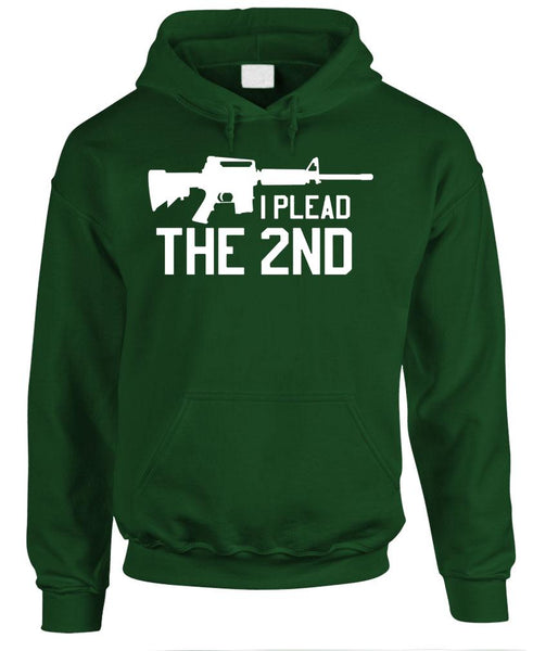 I PLEAD The 2Nd - Gun Rights Amendment - Fleece Pullover Hoodie (fleece)