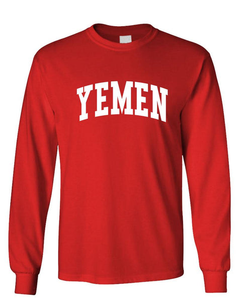 YEMEN - Homeland Country Pride - Unisex Cotton Long Sleeved T-Shirt (lstee)