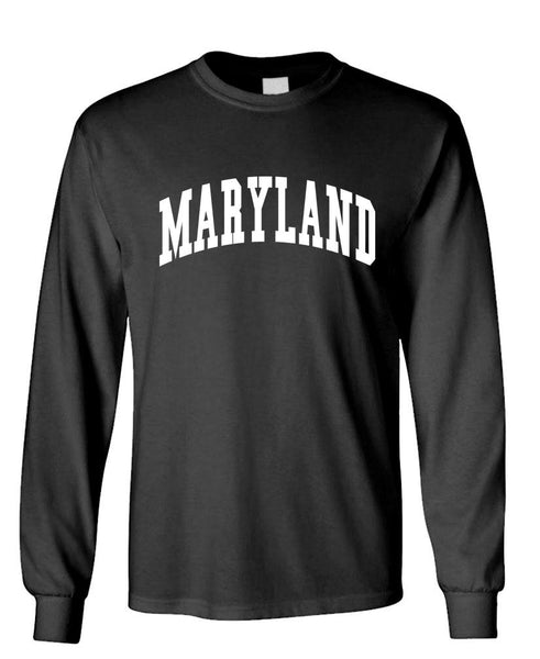 MARYLAND - united states usa patriot - Unisex Cotton Long Sleeved T-Shirt (lstee)