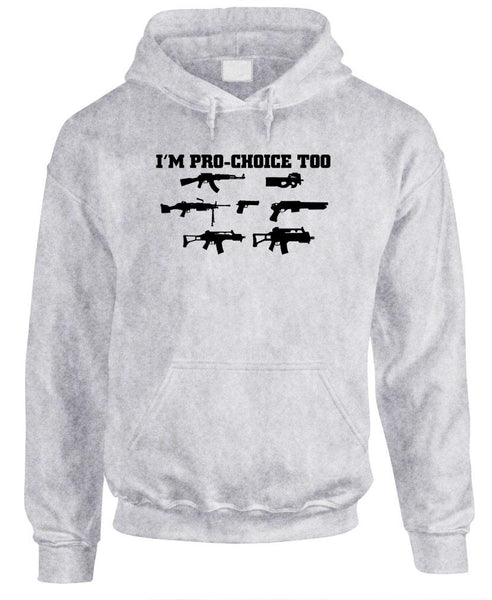 I'M PRO CHOICE TOO - Fleece Pullover Hoodie (fleece)