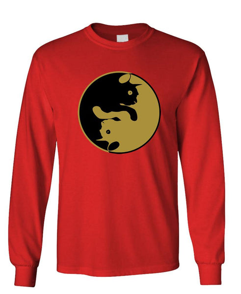 CAT YANG - Unisex Cotton Long Sleeved T-Shirt (lstee)