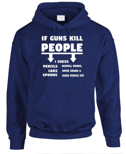 If GUNS Kill People - SPOONS make you FAT - Fleece Pullover Hoodie (fleece)