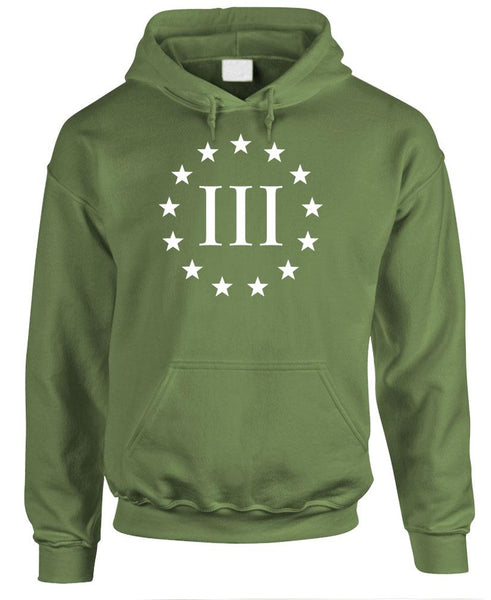 THREE PERCENTER 2Nd Amendment Patriot Guns - Fleece Pullover Hoodie (fleece)