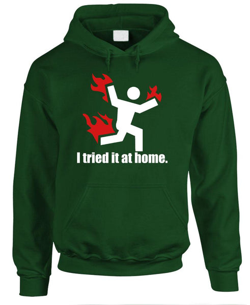 I TRIED It At Home Science Project Funny - Fleece Pullover Hoodie (fleece)