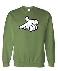 MICKEY GUN HANDS - Fleece Crew Neck Pullover Sweatshirt (fleece)