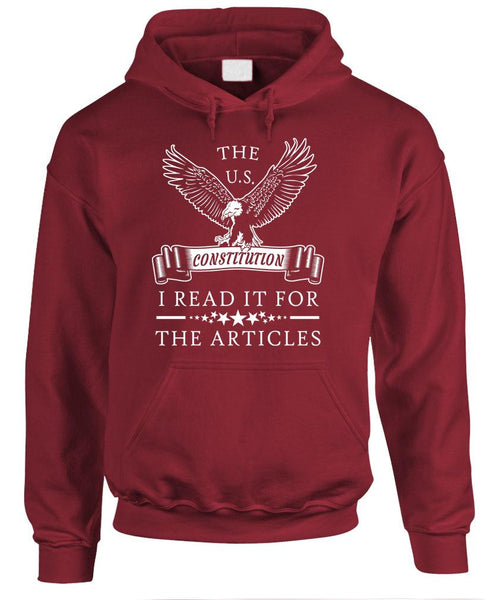 THE CONSTITUTION - I read it for the ARTICLES - Fleece Pullover Hoodie (fleece)