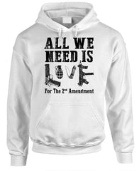 ALL WE Need Is Love For The 2Nd Amendment - Fleece Pullover Hoodie (fleece)