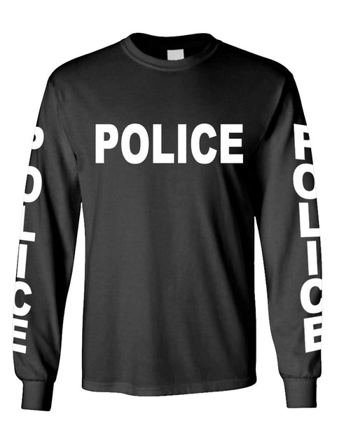 POLICE - novelty duty cop law enforcement - Long Sleeved Tee (lstee)