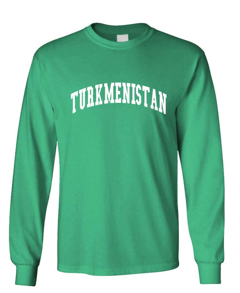 TURKMENISTAN - Homeland Country Pride - Unisex Cotton Long Sleeved T-Shirt (lstee)