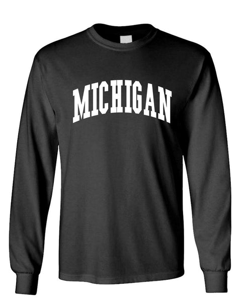 MICHIGAN - united states usa patriot - Unisex Cotton Long Sleeved T-Shirt (lstee)