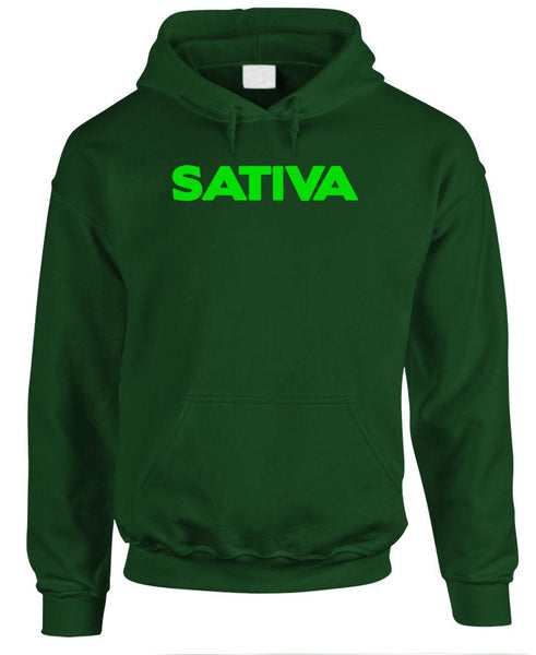 SATIVA - 420 marijuana drugs smoke - Fleece Pullover Hoodie (fleece)