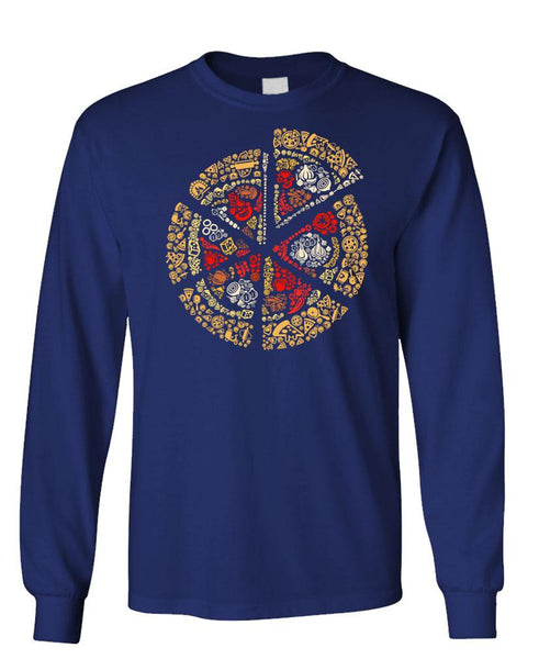 PIZZA PIE - Unisex Cotton Long Sleeved T-Shirt (lstee)