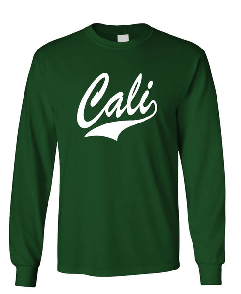 CALI - california usa america patriot - Unisex Cotton Long Sleeved T-Shirt (lstee)