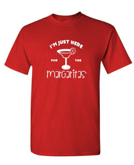 I'M JUST HERE FOR THE MARGARITAS - party - Mens Cotton T-Shirt (tee)