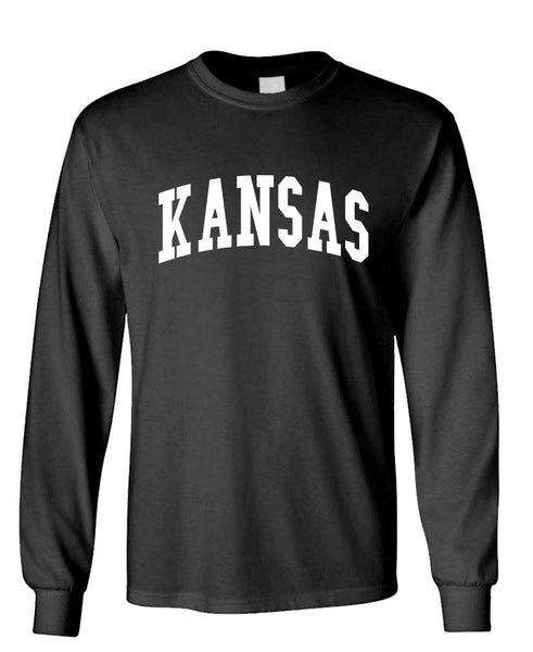 KANSAS - united states usa patriot - Unisex Cotton Long Sleeved T-Shirt (lstee)