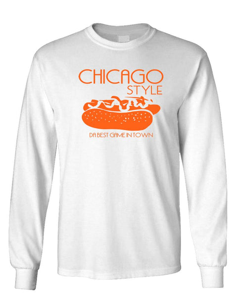 CHICAGO STYLE DA BEST DOG IN TOWN - Unisex Cotton Long Sleeved T-Shirt (lstee)