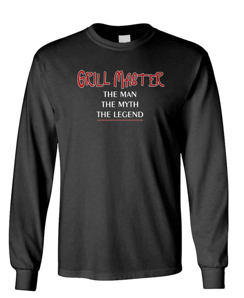GRILL MASTER THE MAN - Unisex Cotton Long Sleeved T-Shirt (lstee)