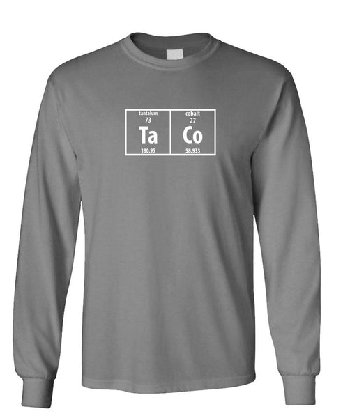 TACO PERIODIC TABLE - food science EAT - long Sleeved Tee (lstee)