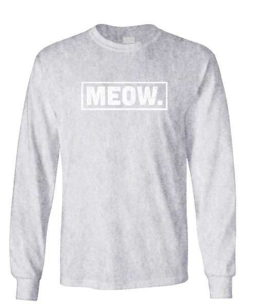MEOW - Unisex Cotton Long Sleeved T-Shirt (lstee)