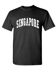 SINGAPORE - Homeland Country Pride - Unisex Cotton T-Shirt Tee Shirt (tee)