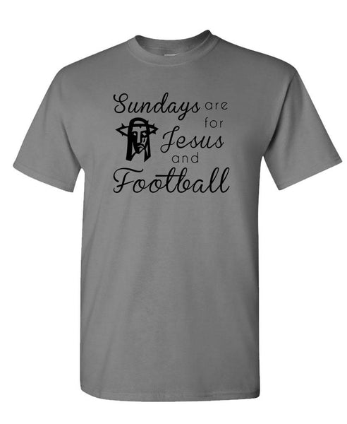 SUNDAYS ARE FOR Jesus And Football - Unisex Cotton T-Shirt Tee Shirt (tee)