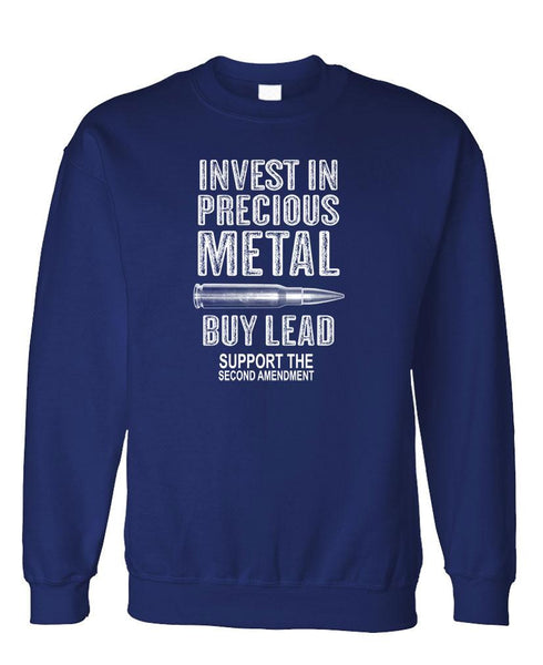 INVEST IN METAL BUY LEAD - Fleece Crew Neck Pullover Sweatshirt (fleece)