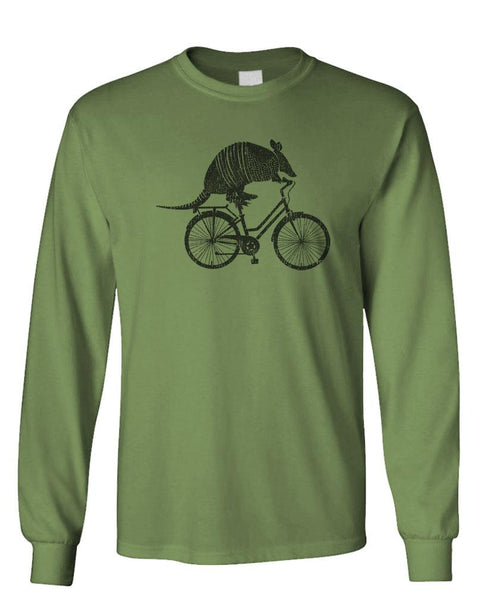 ARMADILLO ON A BICYCLE - Unisex Cotton Long Sleeved T-Shirt (lstee)