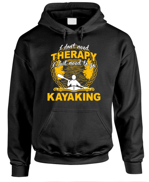 I DON'T NEED THERAPY JUST KAYAKING - Fleece Pullover Hoodie (fleece)