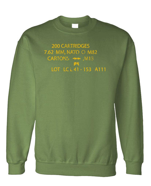 MILITARY AMMOBOX - Fleece Crew Neck Pullover Sweatshirt (fleece)