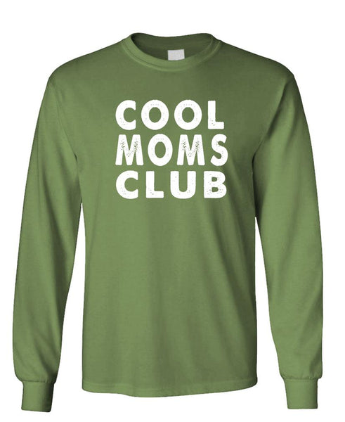 COOL MOMS CLUB - Unisex Cotton Long Sleeved T-Shirt (lstee)