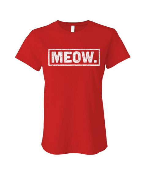 MEOW - Cotton LADIES T-Shirt (ladies)