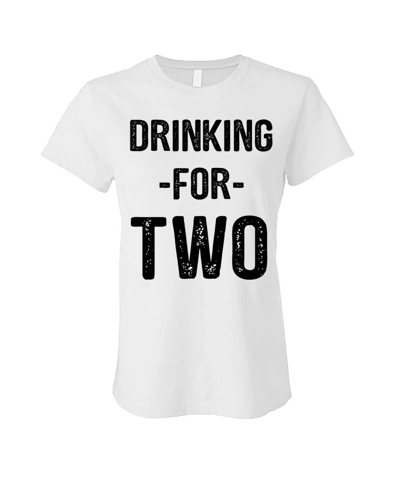 DRINKING FOR TWO - Cotton LADIES T-Shirt (ladies)