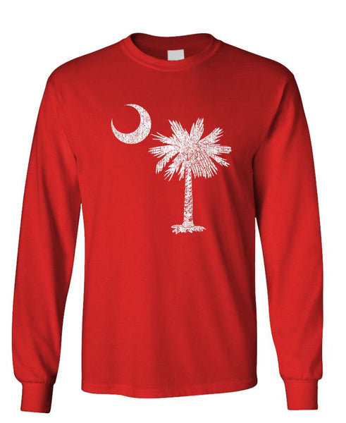 SOUTH CAROLINA - Unisex Cotton Long Sleeved T-Shirt (lstee)