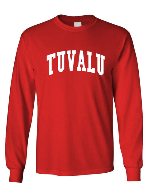 TUVALU - Homeland Country Pride - Unisex Cotton Long Sleeved T-Shirt (lstee)