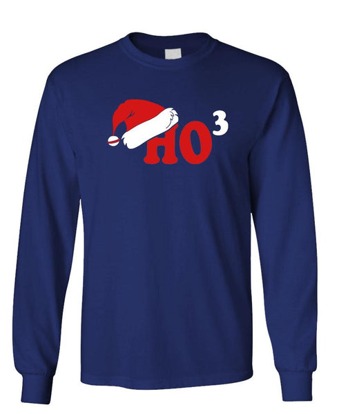 HO 3 - funny santa christmas joke gag - Unisex Cotton Long Sleeved T-Shirt (lstee)