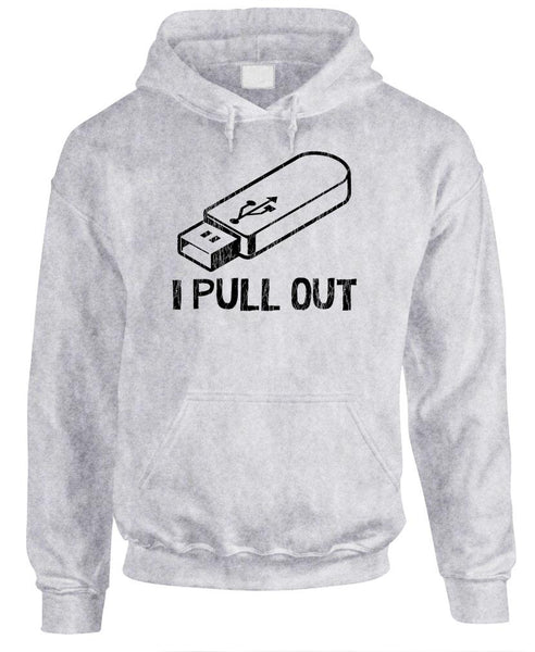 I PULL OUT - Fleece Pullover Hoodie (fleece)